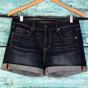 American Eagle Midi Stretch Denim Jean Shorts